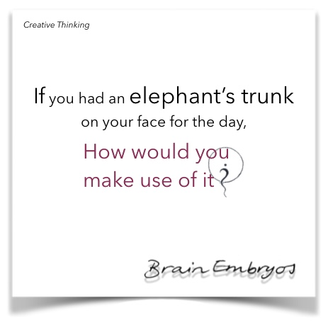 If you had an elephant's trunk on your face for a day, how would you use it?