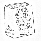 Book sketch reading 101 all time favourite break-up word-fillers by Lacko Insight