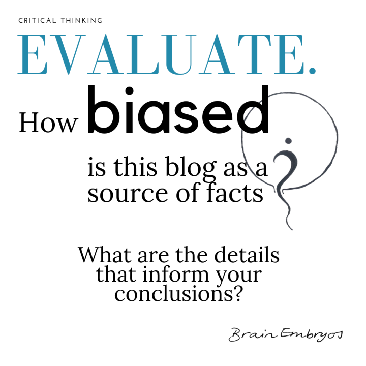 Evaluate. How biased is this blog as a source of facts? What details lead you to your conclusion?